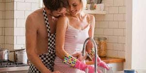 sexy kitchen couple