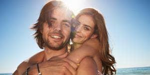Leo couple having fun in the sun
