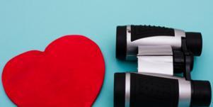 Heart and binoculars