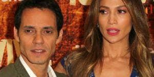 Marc Anthony and Jennifer Lopez no smiles