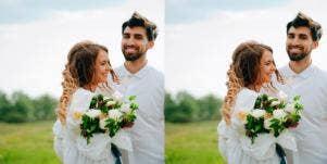 husband and wife on wedding day