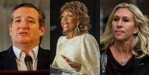 Ted Cruz, Mazine Waters, and Marjorie Taylor Greene