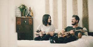couple guitars