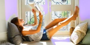 girl reading new adult fiction