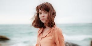 sad woman at beach