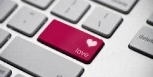 online dating internet keyboard love key