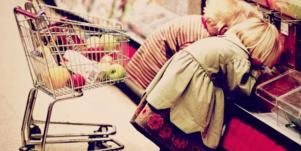 kids at the supermarket
