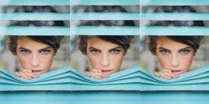 woman peeking