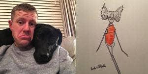 Phil Heckles and pet portrait
