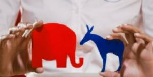 political parties donkey elephant