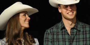Prince William Kate Middleton cowboy hats