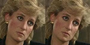 Princess Diana's sanpaku eyes