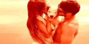 Couple with puppy