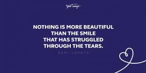 demi lovato quote about struggle