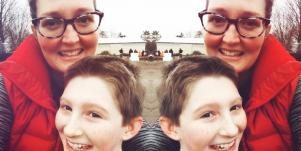 Kelly and her son, Ryan