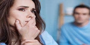 spouse shaming upset woman