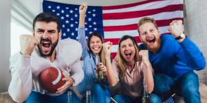 football fans celebrating game day
