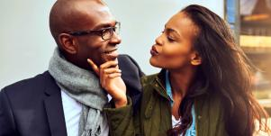 girlfriend saying sweet things to her boyfriend