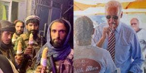 Taliban Joe Biden Eating Ice Cream