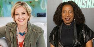 Brene Brown and Tarana Burke book headshots