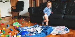 toddler making mess