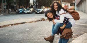 two women showing empathy