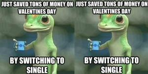 geico gecko funny valentines day meme