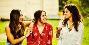 three friends gossiping