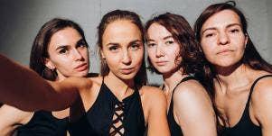 group of white girls