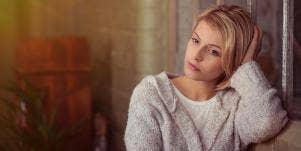 depressed looking woman