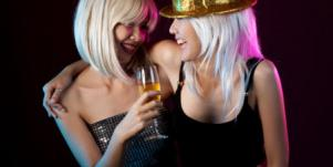 Women celebrating New Year's eve together