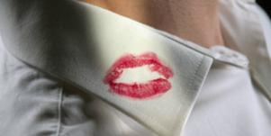 lipstick on lapel