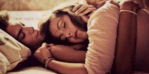couple cuddling