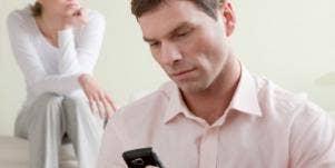 man reading texts