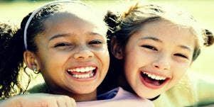 kids smiling.