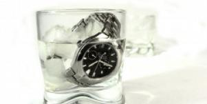 watch in a glass