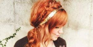 Girl with gold headband
