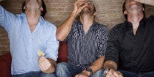 Men enjoying themselves