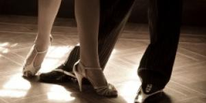 Legs on a dance floor