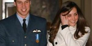 Prince William and Kate Middleton walk together.